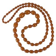 Long Graded Vintage Amber Necklace
