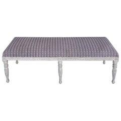 Long Gustavian Style Swedish Bench