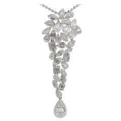 Long Impressive Diamond Pendant Necklace
