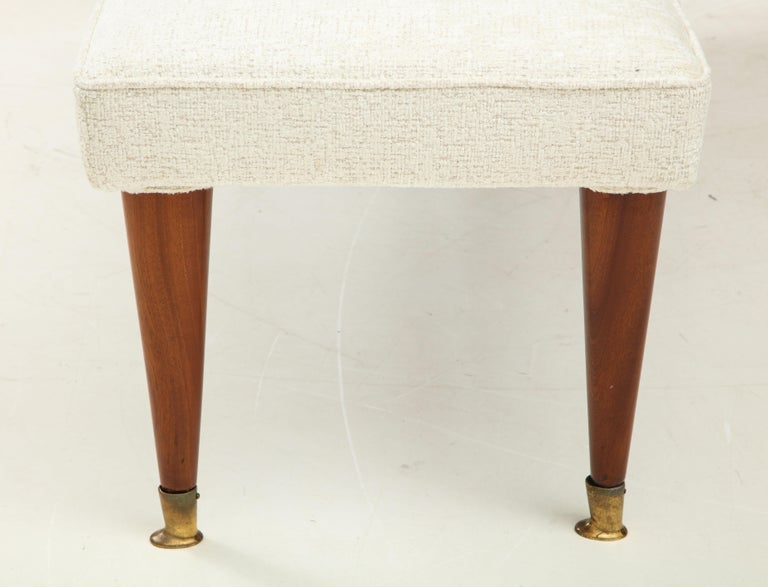 Long Ivory Boucle Bench or Banquette with Half Back, Italy, 1960s In Good Condition For Sale In New York, NY