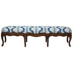 Long Louis XV Walnut Bench