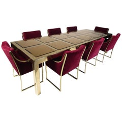 Long Mastercraft Table & Chairs