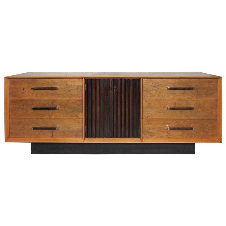 Long Mid-Century Modern Dresser For Sale