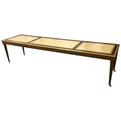 Long Midcentury Capiz Shell Top Coffee Table