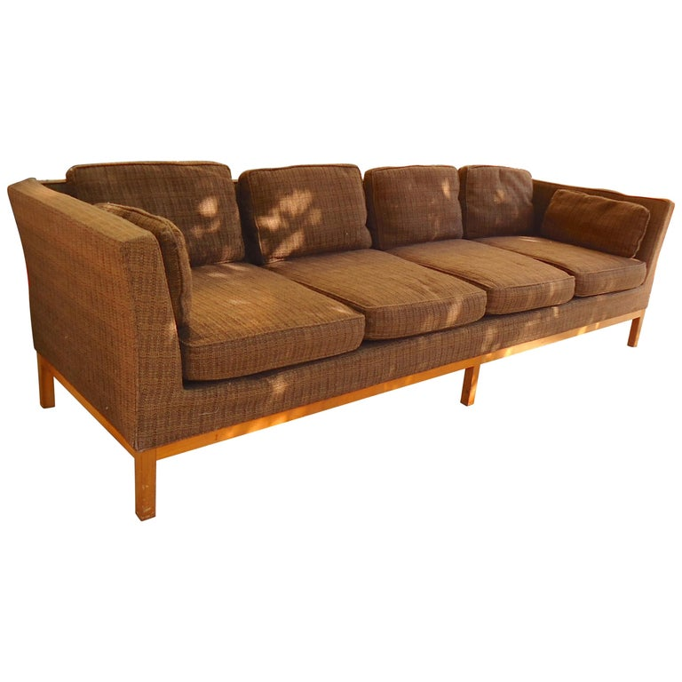Long Midcentury Sofa by Thayer Coggin For Sale