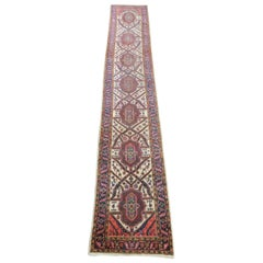Long Narrow Dragon Design Heriz Runner, Early 20th Century