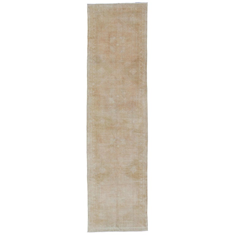 long oushak runner with subdued design and neutral color palette for sale at 1stdibs 1stdibs