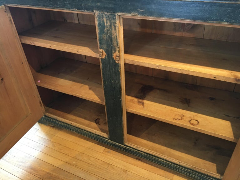 Pine Long Painted Canadian Buffet For Sale