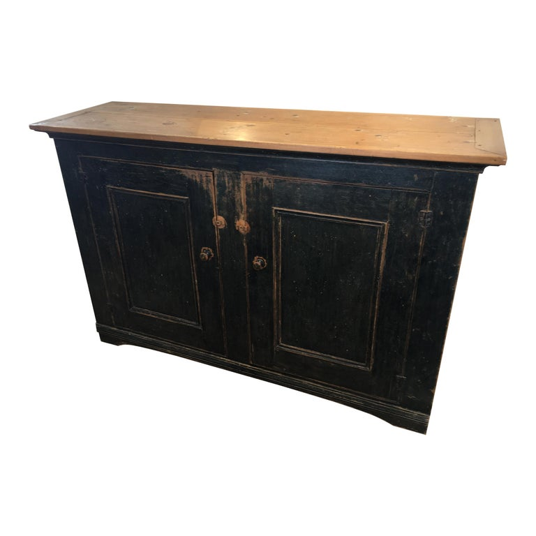Long Painted Canadian Buffet For Sale