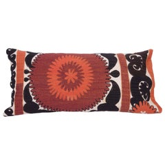 Long Pillow Case Made Out of a Mid-20th Century Uzbek Samarkand Suzani