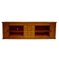 Long Pine Sideboard with Nineteen Drawers