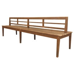 Long Railroad Bench