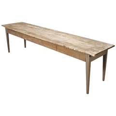 Long Rectangular French Pine Kitchen, Farmhouse, Dining Table