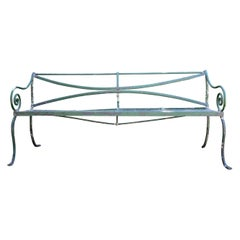 Long Scottish Regency Wrought Iron Bench, CA 1820