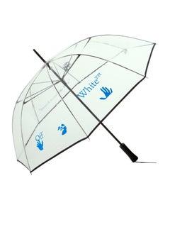 Off-White Long See Thru Umbrella Transparent Black Blue