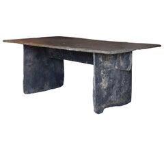 Long Slate Dining Table