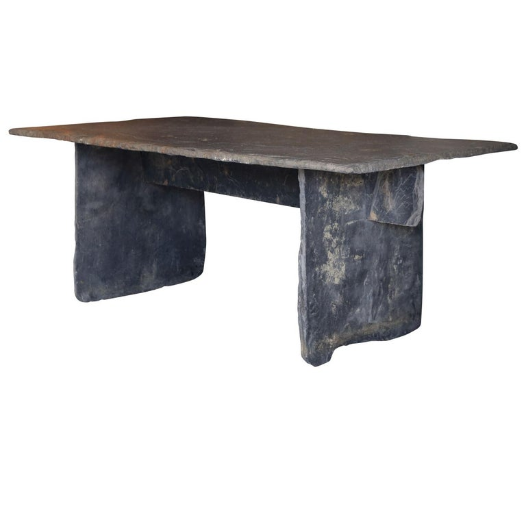 Long Dining Tables For Sale: Long Slate Dining Table For Sale At 1stdibs