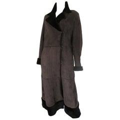 Long Soft Lamb Shearling fur Coat