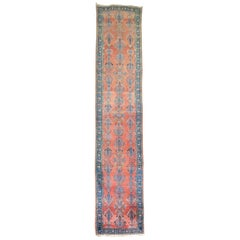Long Traditional Antique Persian Sarouk Runner