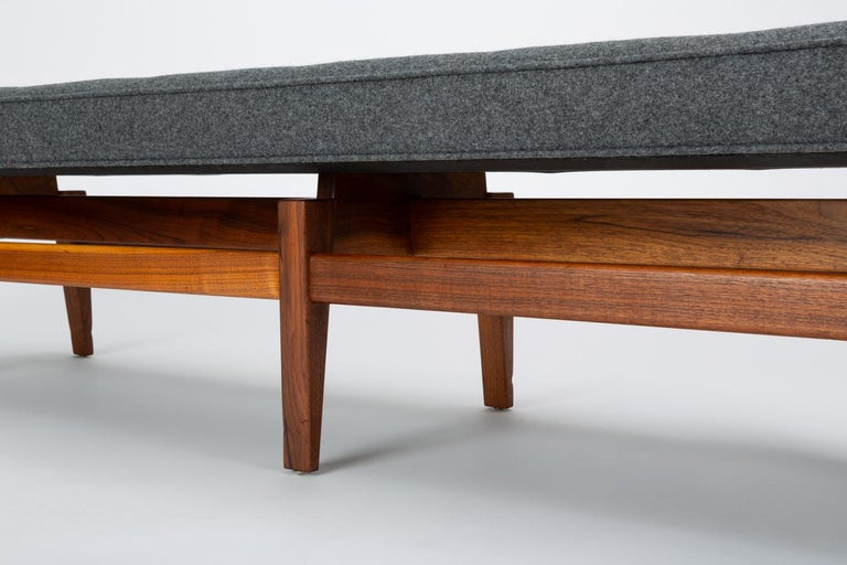 Long Upholstered Bench by Jens Risom For Sale 3