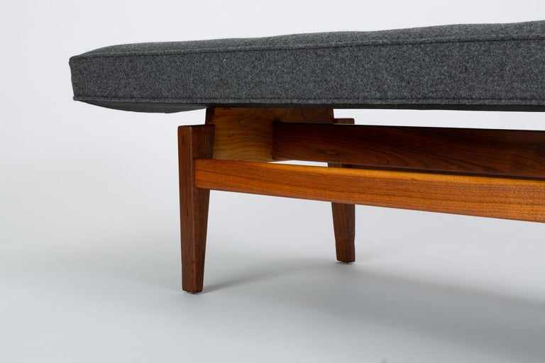 Long Upholstered Bench by Jens Risom For Sale 4