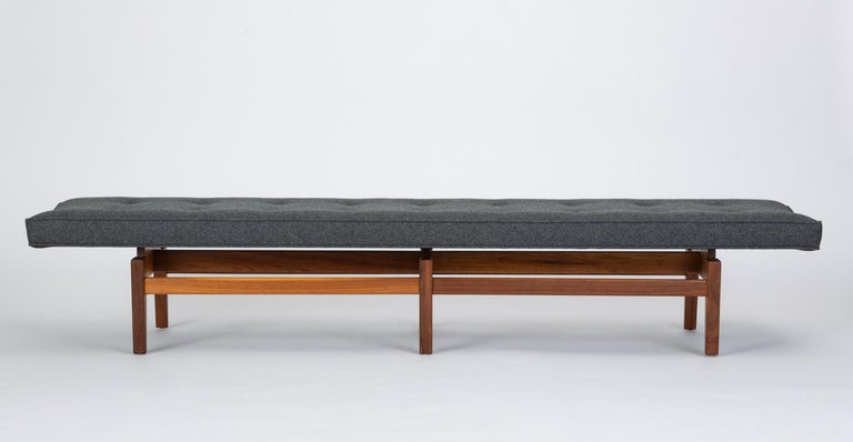 Mid-Century Modern Long Upholstered Bench by Jens Risom For Sale