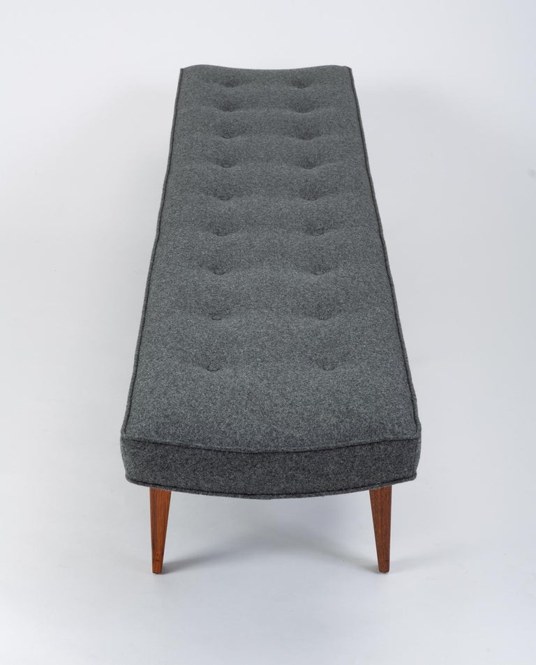 20th Century Long Upholstered Bench by Jens Risom For Sale