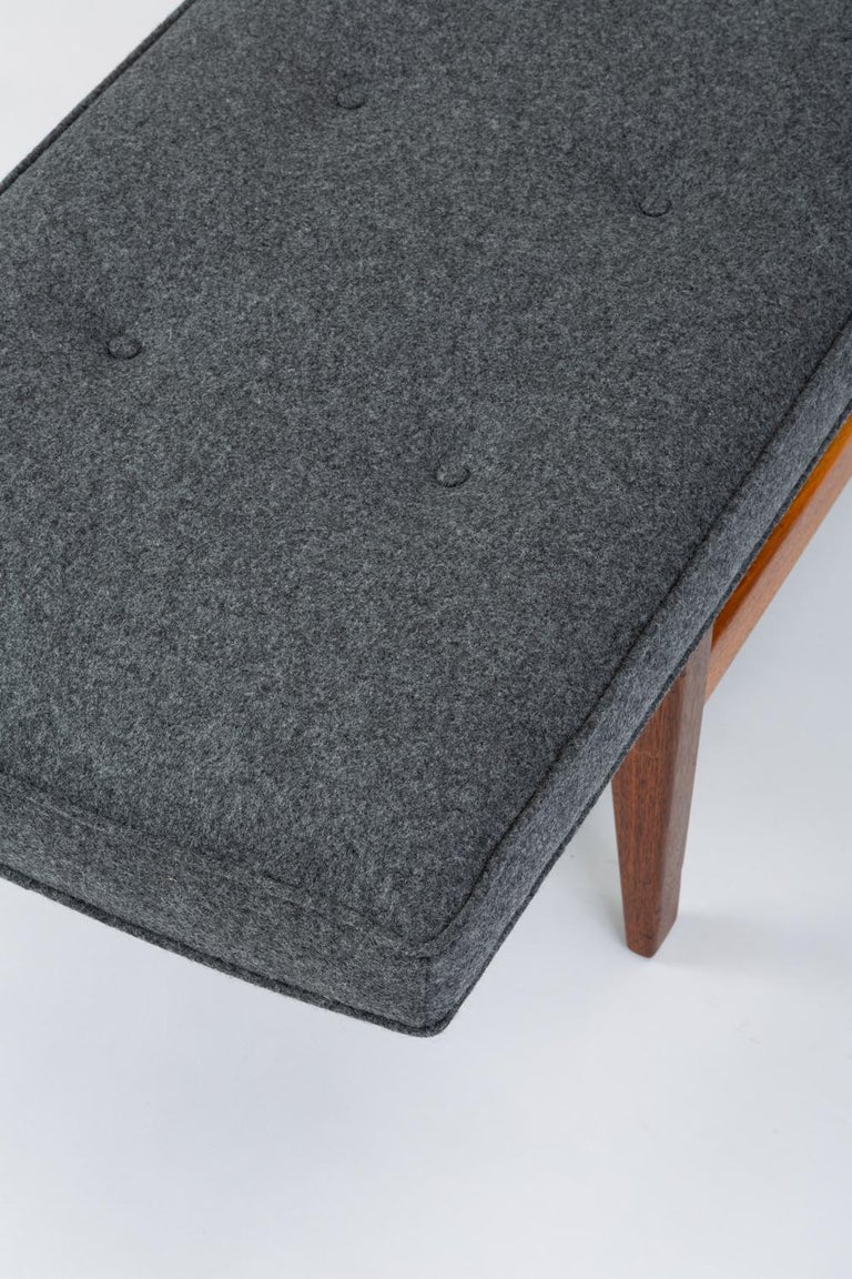 Long Upholstered Bench by Jens Risom For Sale 1