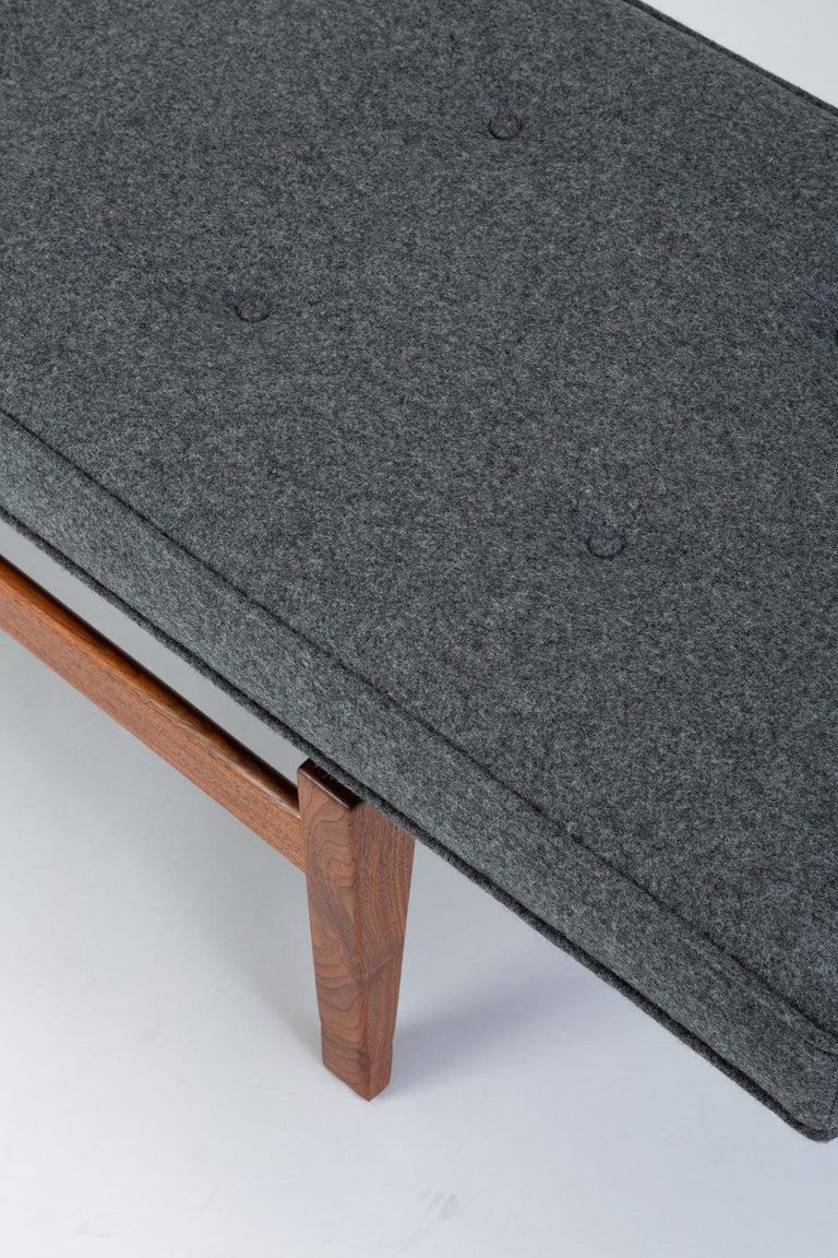Long Upholstered Bench by Jens Risom For Sale 2