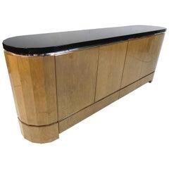 Long Vintage Sideboard with Finished Back