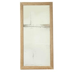 Long, Rectangular Cerused Wood Mirror with Original Glass, France, 19th Century