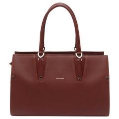 Longchamp Burgundy Leather Handbag