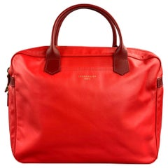 LONGCHAMP Red Leather Tote Handbag