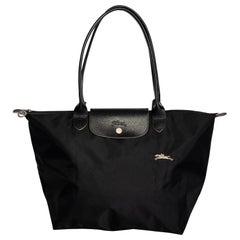 Longchamp Black Le Pliage Tote Bag