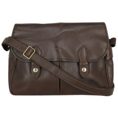 Longchamp Woman Shoulder bag  Brown Leather