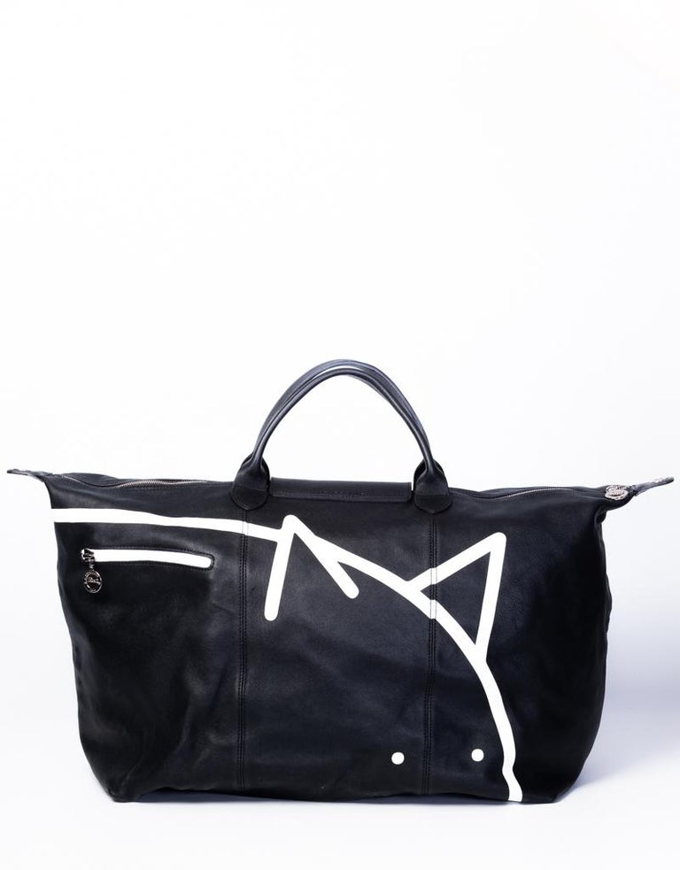 Longchamp X Mr. Bags Le Pliage Cuir Year of Pig Travel Bag In New Condition For Sale In Montreal, Quebec