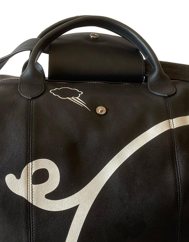Longchamp X Mr. Bags Le Pliage Cuir Year of Pig Travel Bag For Sale 2