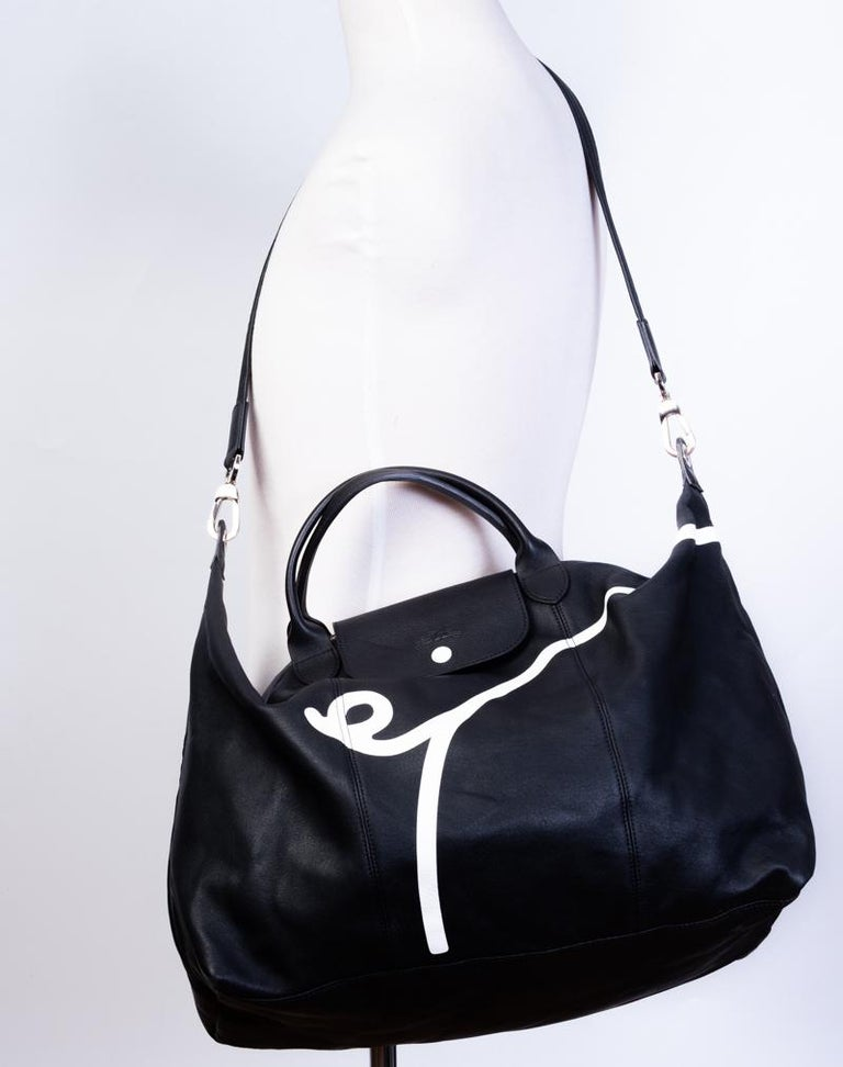 Longchamp X Mr. Bags Le Pliage Cuir Year of Pig Travel Bag For Sale 3