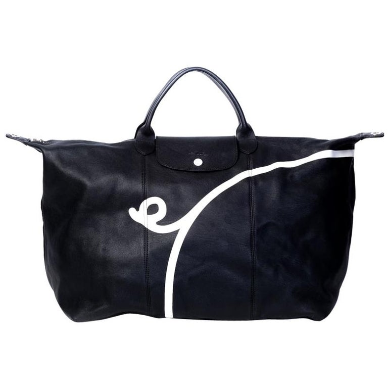 Longchamp X Mr. Bags Le Pliage Cuir Year of Pig Travel Bag For Sale