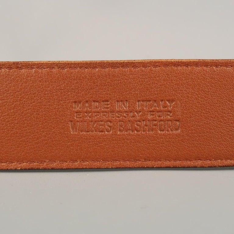 LONGHI Size 34 Brown Belt For Sale 7