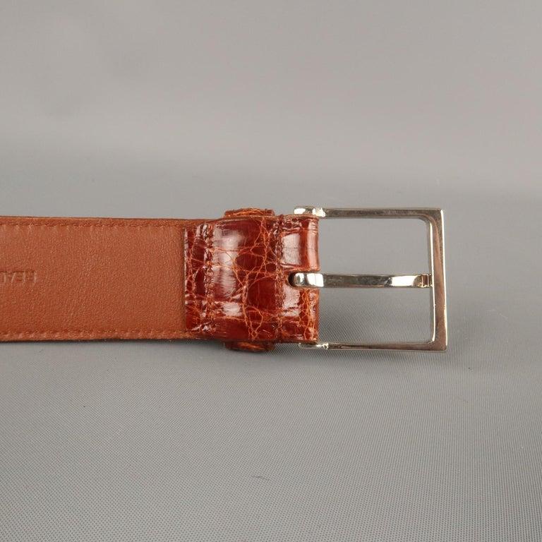 LONGHI Size 34 Brown Belt For Sale 1