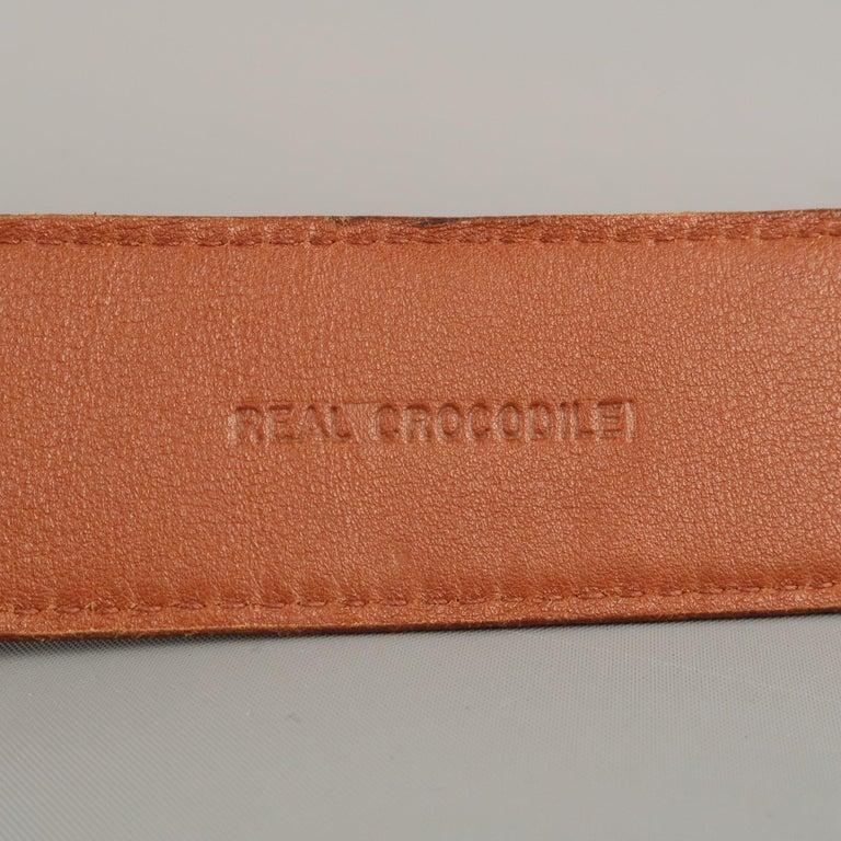 LONGHI Size 34 Brown Belt For Sale 2