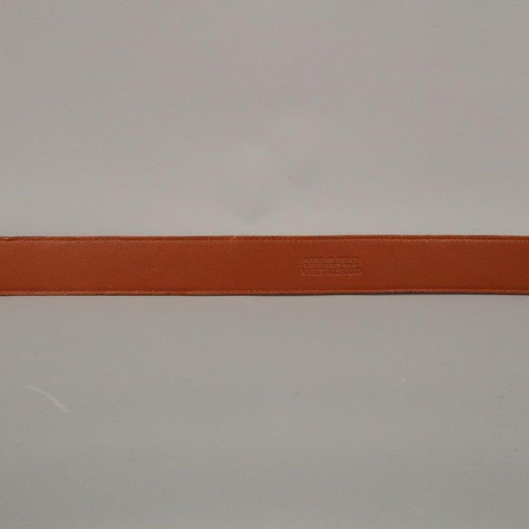 LONGHI Size 34 Brown Belt For Sale 4