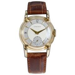 Longines 14 Karat Solid Gold Art Deco Wristwatch, circa 1940s