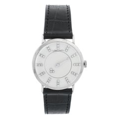 Longines 14 Karat White Gold 1950s Mystery Dial Watch