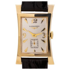 Longines 14 Karat Yellow Gold Elongated Hourglass, circa 1950s