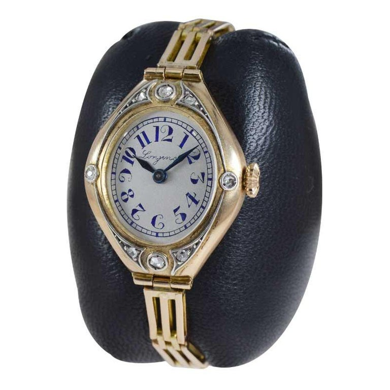 FACTORY / HOUSE: Longines Watch Co. STYLE / REFERENCE: Art Nouveau / Tonneau / Russian Construction METAL / MATERIAL: 14Kt Yellow Gold CIRCA / YEAR: 1914 DIMENSIONS / SIZE: 32mm x 23mm MOVEMENT / CALIBER: Manual Winding / 17 Jewels  DIAL / HANDS: