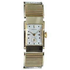 Longines 14Kt. Yellow Gold Art Deco Rare Hand Constructed Bracelet Watch, 1940s