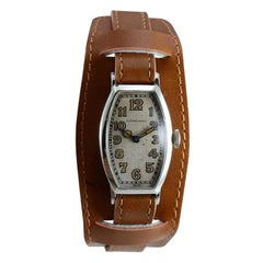 Longines 18 Karat White Gold Art Deco Watch from 1925 Handmade