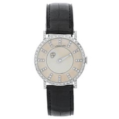 Longines White Gold Mystery Dial Manual Wristwatch, 1950s